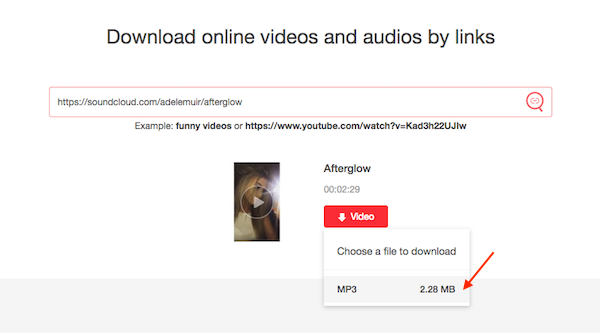 how to download video from soundcloud